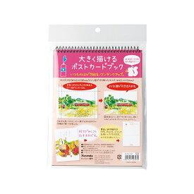 呉竹 Kuretake 大きく描けるポストカードブック 画用紙20枚 KG204-850