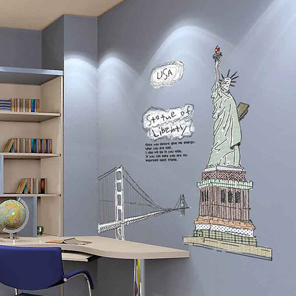 U0026gt; Statue Of Liberty U003c Peel Off Easy Wall Sticker Part 84