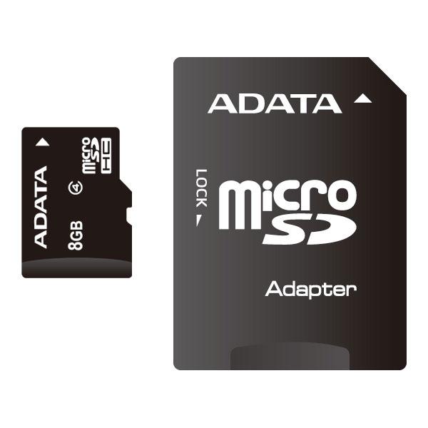 ADATA MicroSDHCカード 8GB Class4【メール便送料無料】