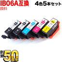 IB06CL5A エプソン用 IB06 メガネ 互換インクカートリッジ 顔料 4色5本セット 顔料4色5本セット