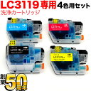 LC3119-4PK専用 ブラザー用 LC3119 プリンター目詰まり洗浄カートリッジ 4色用セット