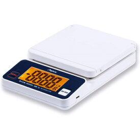 アスカ Asmix 郵便はかり デジタルスケール 最大3kg 郵便料金表 USB給電 スタンド機能 DS3300U(sb) ホワイト