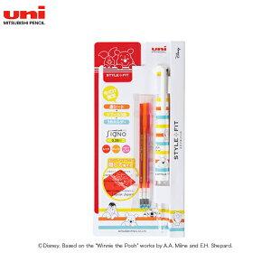三菱鉛筆 uni スタイルフィット ディズニーシリーズ 3色ホルダー スターターキット UE3H558DS38.S AFストライプ