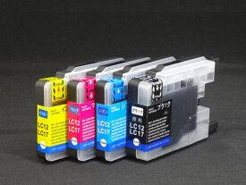 LC12-4PK ブラザー用 LC12 互換インク 増量 4色セット ブラック顔料 増量4色(顔料BK)