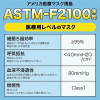 日本製国産サージカルマスクXINSシンズ耳が痛くない耳らくリラマスクVFEBFEPFE3層フィルター不織布使い捨て100枚入り普通サイズ-画像6