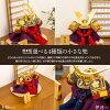 五月人形オシャレインテリア鎧兜「EVOLVE希翔オシャレ選べる4種類小さい兜飾り選べる3種類」平飾り横幅22cm×奥行20cm×高さ18cm2018年初節句子供の日