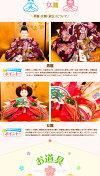 雛人形ひな人形人形工房松寿名匠・逸品飾り作家作ひな人形「プレミアム雛人形小出松寿作奏絵(かなえ)」2018年雛人形●平飾り親王飾り