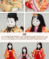雛人形ひな人形雛「真多呂作瑞春雛官女付」●木目込二段【楽ギフ_包装】
