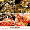 雛人形凰翠作眞壽雛花几帳(はなきちょう)平飾りのお雛様横幅70〜79cmリビングに最適なサイズひな人形2019モデル初節句