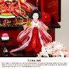 雛人形凰翠作眞壽雛桃歌(ももか)収納飾りのお雛様三段飾り横幅70〜79cmリビングに最適なサイズひな人形2019年モデル初節句