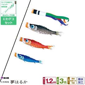 徳永鯉のぼり 夢はるか鯉 1.2m 6点セット にわデコセット 2021年初節句 端午の節句 こどもの日 こいのぼり