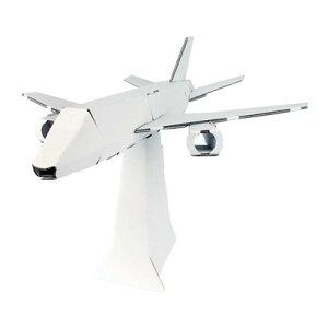 ハコモ 飛行機 白 ダンボール おもちゃ 知育玩具 模型 インテリアホビー 趣味 コレクション