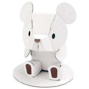 ハコモ ホワイトくまちゃん ダンボール おもちゃ 知育玩具 模型 インテリアホビー 趣味 コレクション ダンボールアート