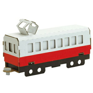 ハコモ 電車キット(赤) 白 ダンボール おもちゃ 知育玩具 模型 インテリアホビー 趣味 コレクション ダンボールアート