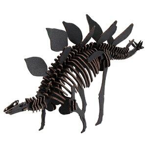 ハコモ BLACK LABEL ステゴサウルス (ブラック)ダンボール おもちゃ 知育玩具 模型 インテリアホビー 趣味 コレクション