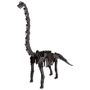 ハコモ BLACK LABEL ブラキオサウルス (ブラック)ダンボール おもちゃ 知育玩具 模型 インテリアホビー 趣味 コレクション