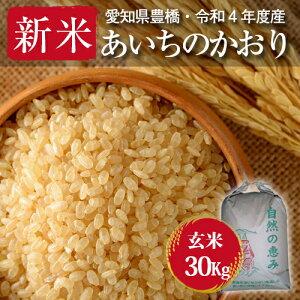 【令和元年度産・送料無料!(一部地域を除く)】あいちのかおり・30kg ・減農薬玄米