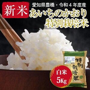 【農薬不使用・一等米】令和2年度・愛知県産 ・特別栽培米 あいちのかおり 白米5kg