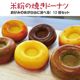 送料無料!とよはしこめこ使用★もっちりとした優しい甘さ★米粉の焼きドーナツ(お好みの味12個セット)