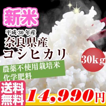 【お買い物マラソン限定クーポン有!】新米 30年産 30kg【玄米・白米】奈良県産 コシヒカリ1等玄米30kgを精米してお届け!