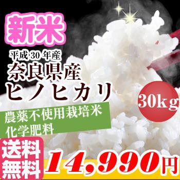 【お買い物マラソン限定クーポン有!】新米 30年産 30kg【玄米・白米】奈良県産ひのひかり1等玄米30kgを精米してお届け!