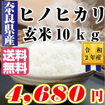 ヒノヒカリ 10kg29年産 奈良ひのひかり 玄米10kgお米 米 10kg 送料無料