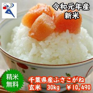 【令和元年産】千葉県産ふさこがね 玄米30kg♪精米無料♪小分け無料♪(玄米:10kg×3袋)※送料無料地域に除外があります※北海道・九州:+600円