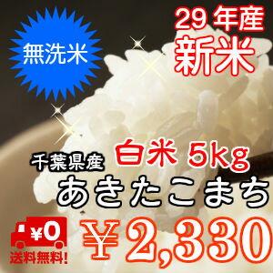 【29年産】新米入荷!無洗米 あきたこまち 5kgおいしい♪簡単♪※送料無料地域に除外があります※北海道・九州:+400円【コンビニ受取対応商品】