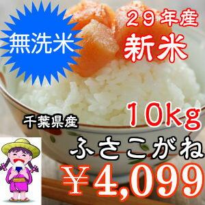 【29年産】新米入荷!無洗米ふさこがね 10kg(5kg×2)千葉県産 おいしい♪手間なし♪簡単♪※送料無料地域に除外があります※北海道・九州:+400円