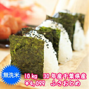 【30年産】無洗米 ふさおとめ 10kg(5kg×2)千葉県産 おいしい♪手間なし♪※送料無料地域に除外があります※北海道・九州+400円