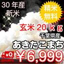 【30年産】千葉県産あきたこまち玄米20kg(10kg×2袋)送料無料♪精米無料♪小分けも無料♪※送料無料地域に除外があ…