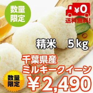 【29年産】千葉県産 ミルキークイーンつきたて5kg送料無料♪数量限定♪※送料無料地域に除外があります※北海道・九州:+400円