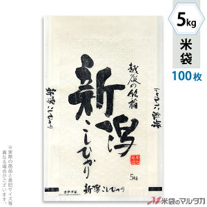 米袋 雲龍和紙 フレブレス 新潟産こしひかり 銘稲 5kg 100枚セット MK-0820