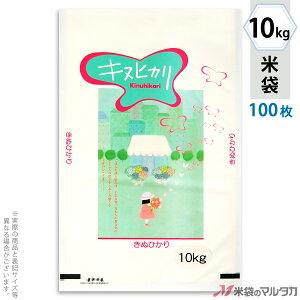 米袋 ラミ フレブレス キヌヒカリ 花と少女 10kg 100枚セット MN-4890