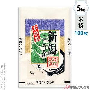 米袋 ラミ フレブレス 新潟産こしひかり 本格派 5kg 100枚セット MN-5300