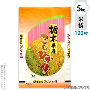 米袋 ポリポリ ネオブレス 栃木産こしひかり 彩光 5kg 100枚セット MP-5217