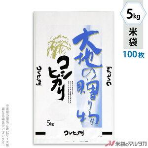 米袋 エコマル コシヒカリ 大地の贈り物 5kg 100枚セット PE-9100