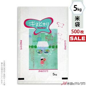 <キャンペーン対応>米袋 ラミ フレブレス キヌヒカリ 花と少女 5kg 1ケース(500枚入) MN-4890