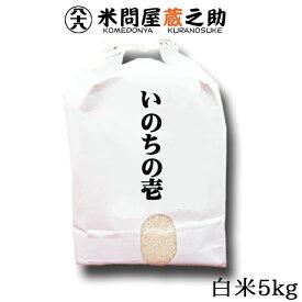 いのちの壱 令和2年産 白米 5kg 送料無料 (一部地域を除く) 内祝い お中元 お歳暮