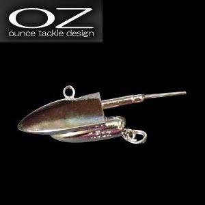 【メール便可】ワインド専用 オンスタックルデザイン ZZ Head(ジージーヘッド)シルバーVer. 3/4-2.0oz