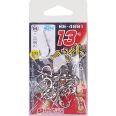 【メール便可】ハリミツ ベイト針(白) BE-4991