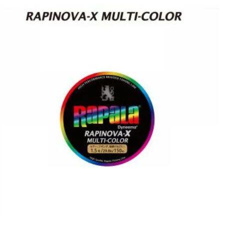 【在庫処分大特価!】【メール便可】ラパラ ラピノバX マルチカラー 200m 0.6号-1.5号