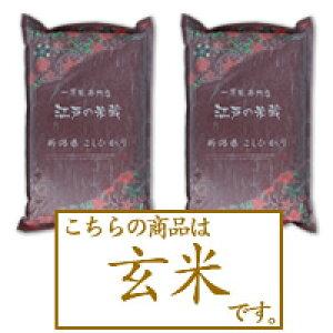【定期購入・送料無料】《玄米》新潟県産コシヒカリ5kg×2個【初回特典48%OFF】