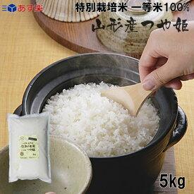 玄米 新米 令和1年産 特別栽培米 (農薬:当地比8割減、化学肥料:栽培期間中不使用) 山形県産 つや姫 5kg