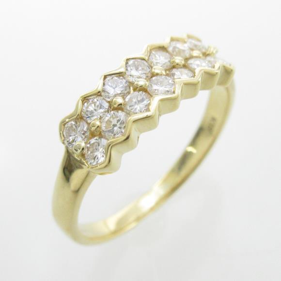 K18YG ダイヤモンドリング【中古】