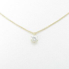 【リメイク】K18YG ダイヤモンドネックレス 0.200ct・F・SI1・VG【中古】