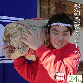 こしひかり 送料無料【地域限定 送料無料】 埼玉県 契約農家のお米 精米無料 白米 24kg