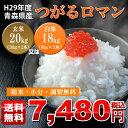 【送料無料】【精米無料】【調製無料】【青森米のエース】29年産 青森県産つがるロマン【玄米20kg(10kg×2本)又は白米18kg(9kg×2本)】…
