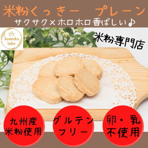 米粉菓子手作り グルテンフリー米粉クッキー プレーン アレルギー対応