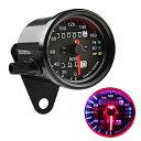スピードメーター 機械式 DC 12V 160km/h バイク用 汎用 メーター 最大速度表示160km/h LED照明 LED バックライト バ…
